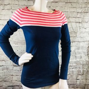 LILLY PULITZER SWEATER Striped Top PREPPY M
